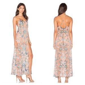 For Love & Lemons Saffron maxi floral dress